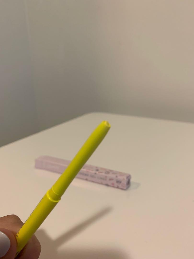 Colourpop festival collection - crssd neon yellow liner