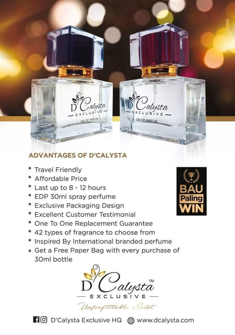 D'Calysta Exclusive Perfume CAN DO FOR YOU!, Health & Beauty