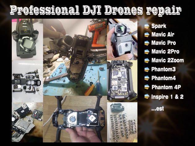 DJI mavic 2 pro、mavic air、spark、mavic pro repair fix service
