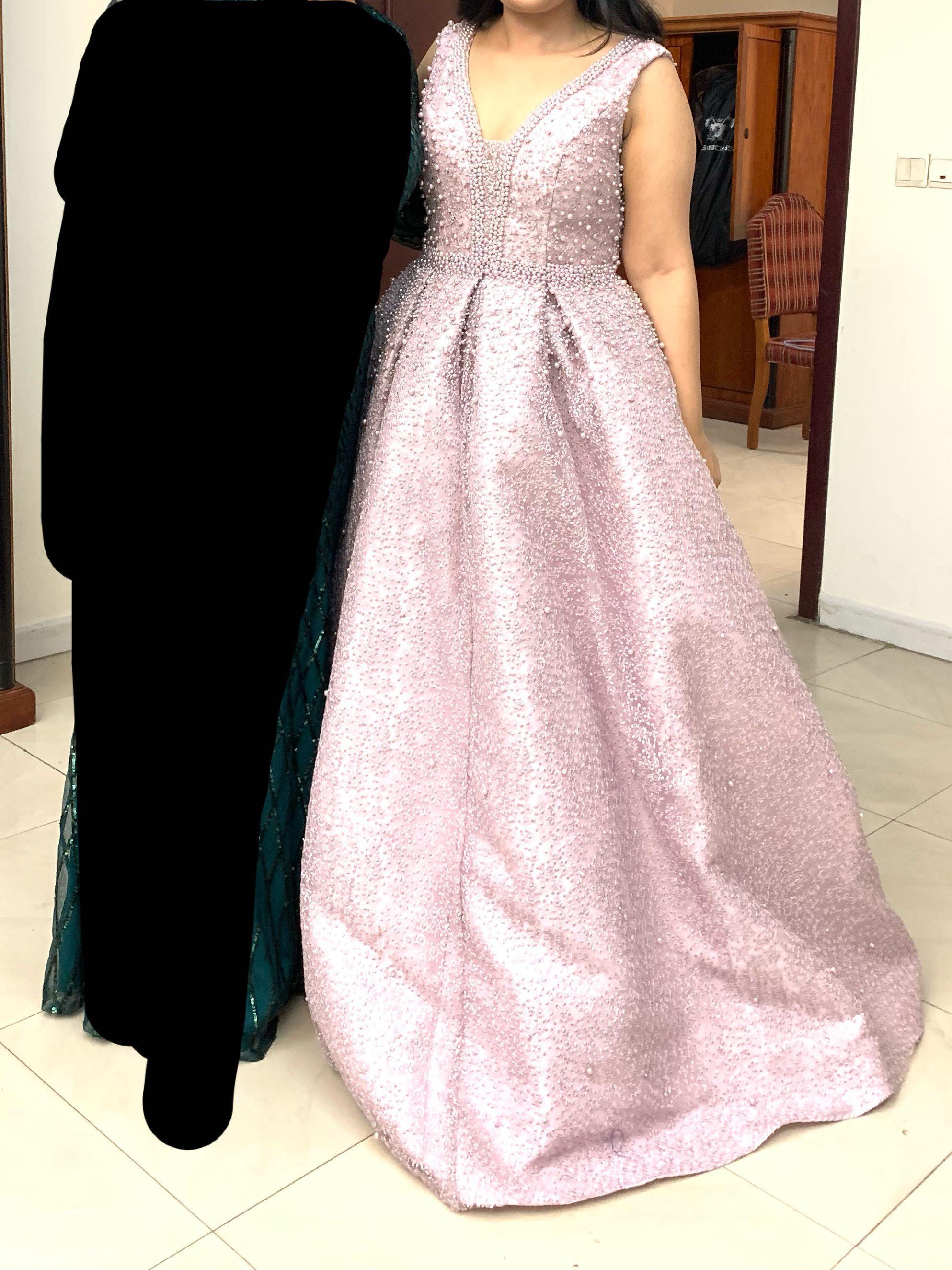 Duchess Boutique formal engagement wedding maxi dress gown lilac