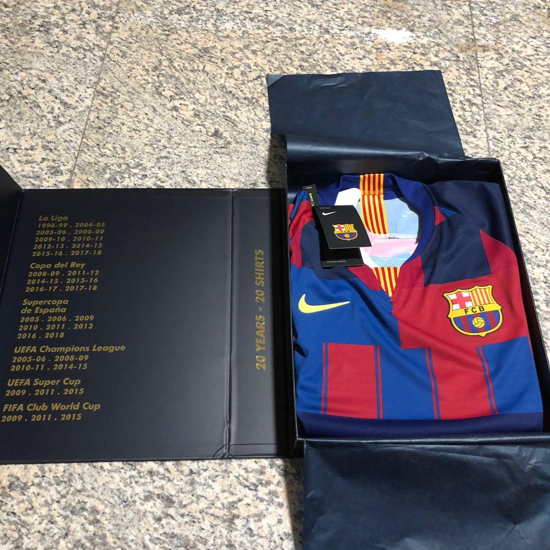 newest collection c131e 78aab FC Barcelona Nike 20th Anniversary Player Version Jersey ...