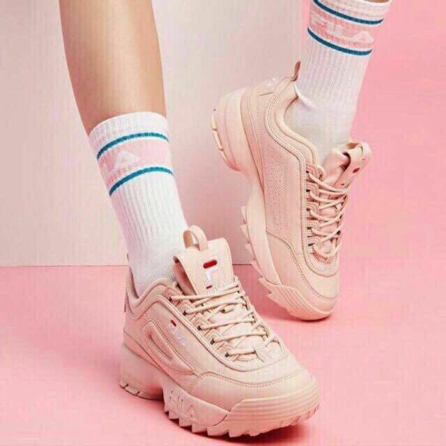 salmon pink white fila Sale Fila Shoes