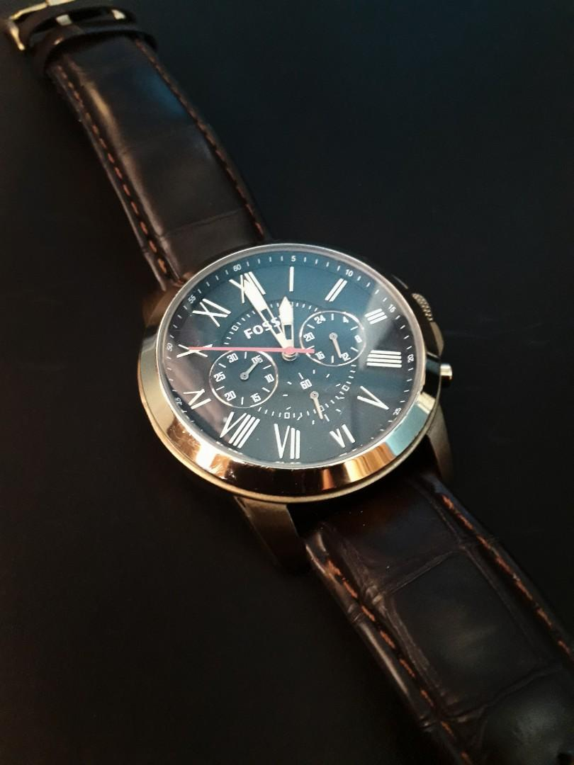 Fossil Chronograh Black Dial Gold Case on Carousell