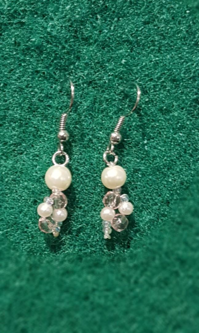 Handmade Pearl W Crystal Earrings Women S Fashion Jewellery
