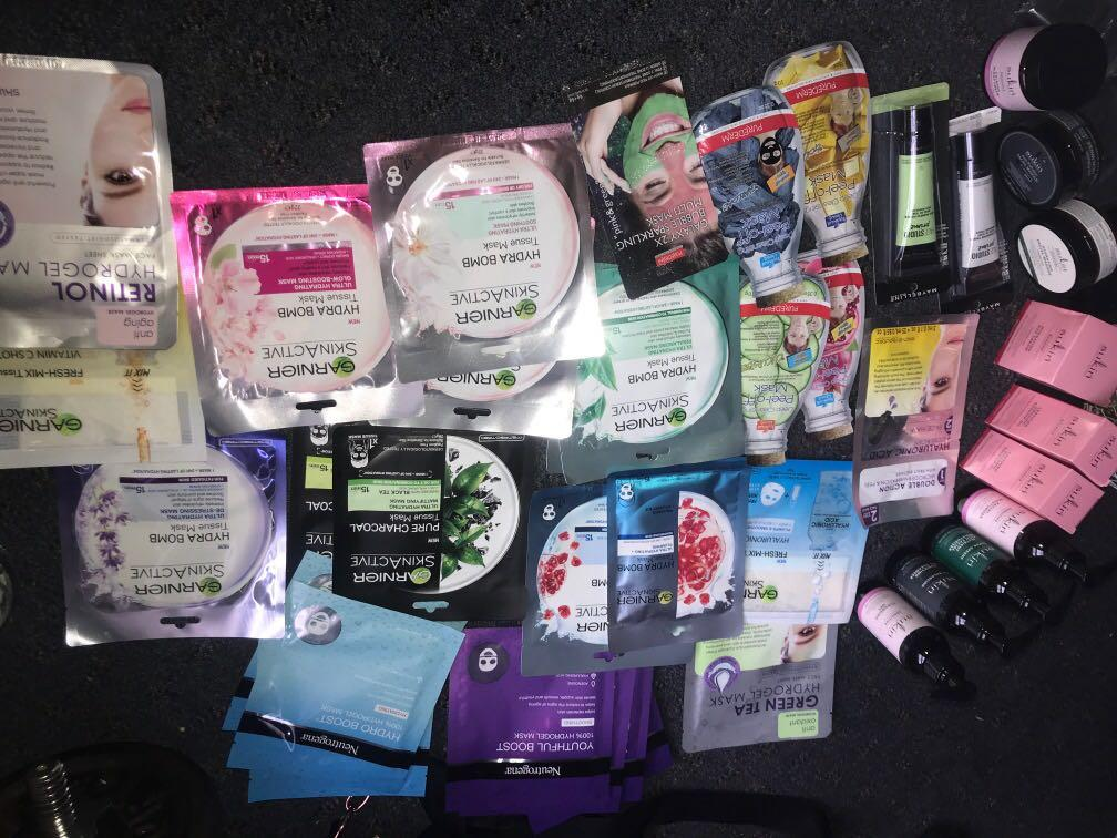 Heaps of variety facial products & skin care                     Face mask 7 for $20
