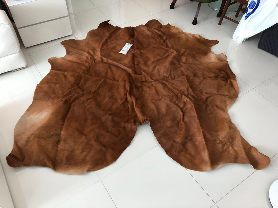 IKEA Koldby cow leather hide skin