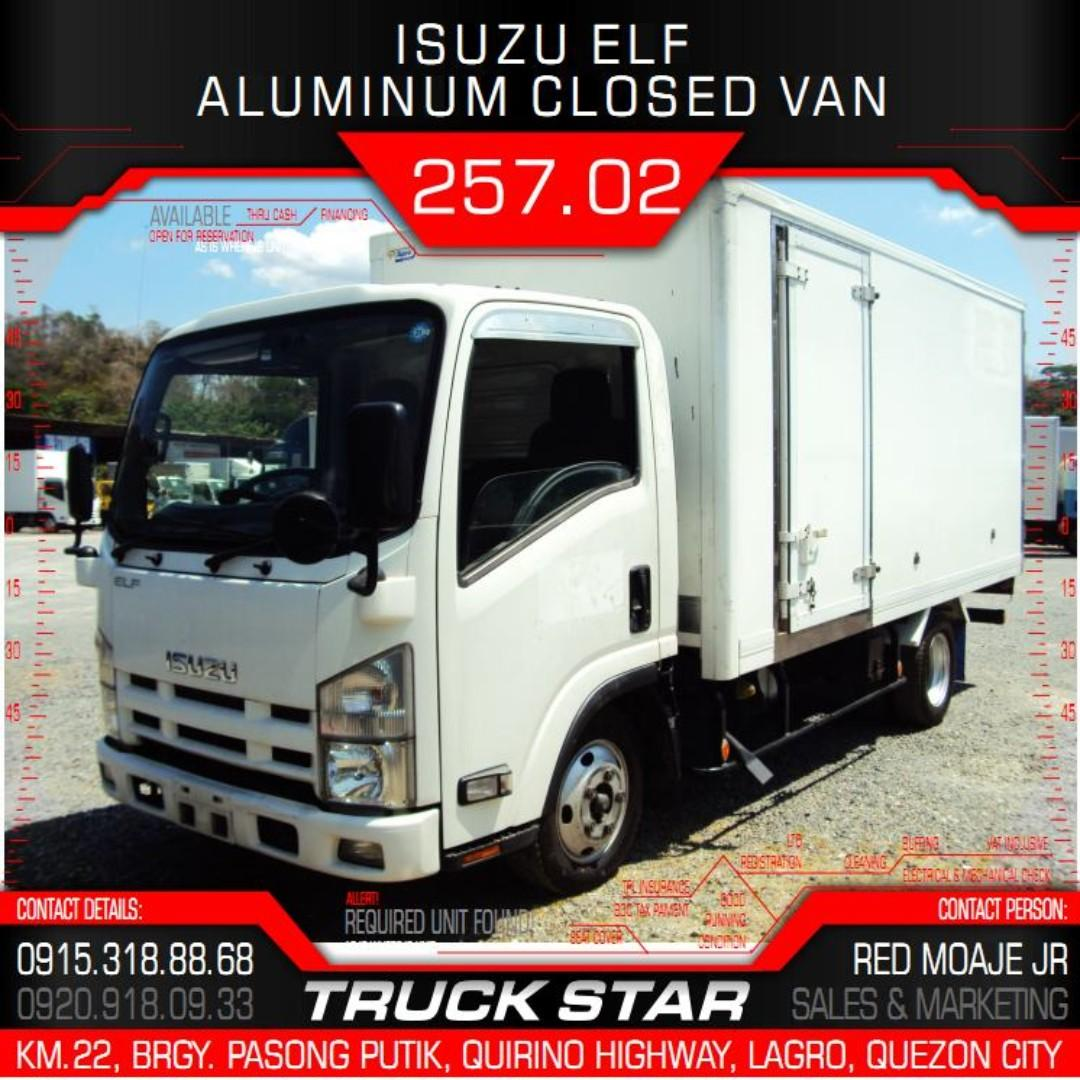 Isuzu Elf Aluminum Closed Van 4JJ1 Engine 14Footer Truck For Sale on