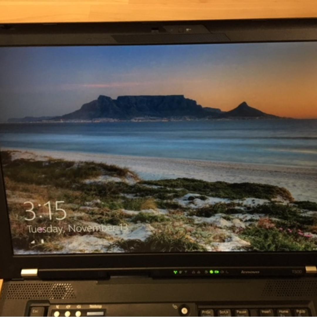 Lenovo T500 Thinkpad max 2.53GHZ 4gb ram 120gb SSD Win 8.1 Pro