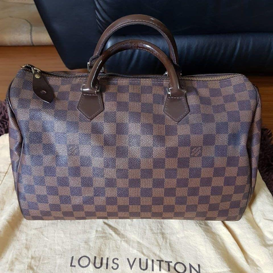 Louis Vuitton Speedy 30 Damier original leather ada noser kulit mulus Like New