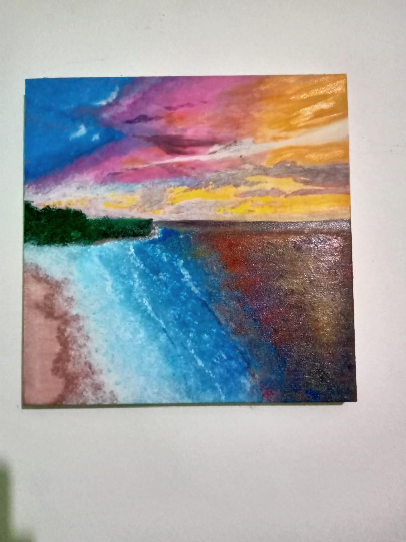 950 Koleksi Gambar Lukisan Pemandangan Yang Mudah Dibuat HD Terbaik