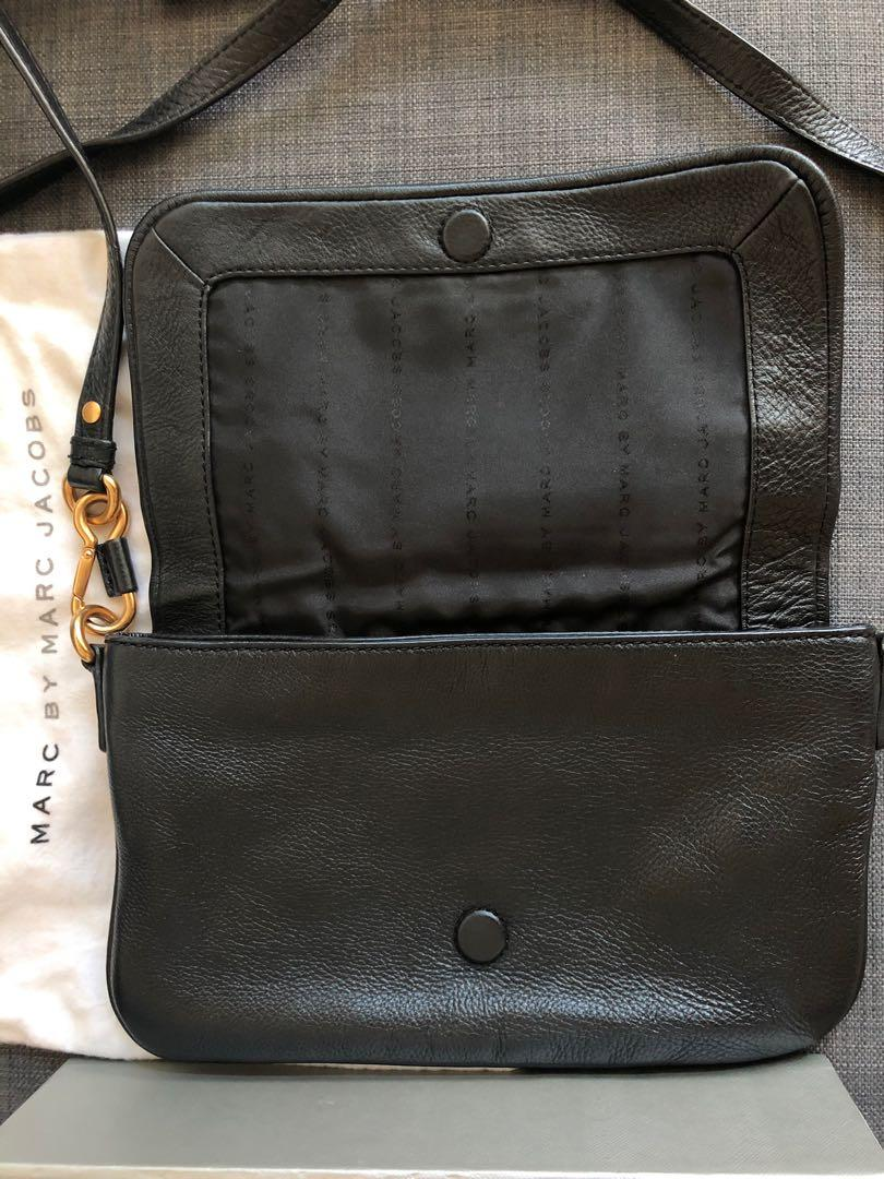 Marc Jacobs牛皮軟身/百搭黑金側揹袋#sellmybags