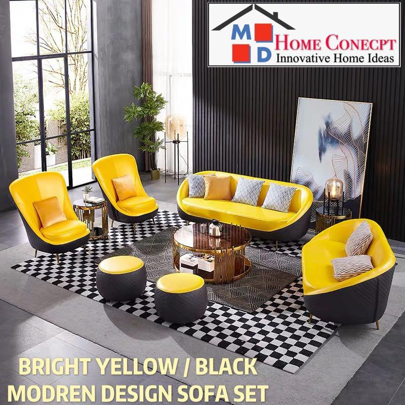 Md Home Conecpt Bright Yellow Black