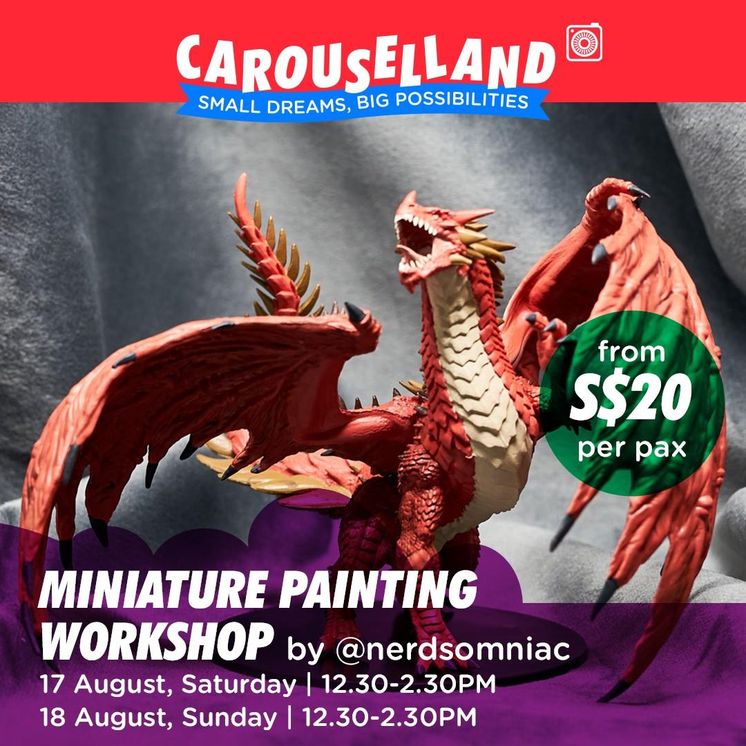 Miniature Painting Workshop at Carouselland 2019