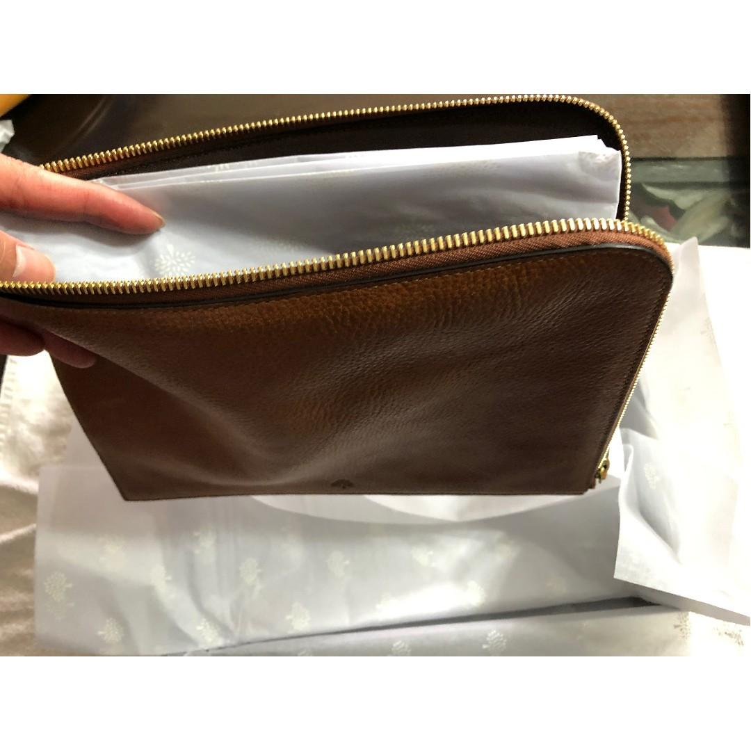 many fashionable official supplier cheapest price Mulberry Leather Tech Pouch in Oak, Mobile Phones & Tablets ...