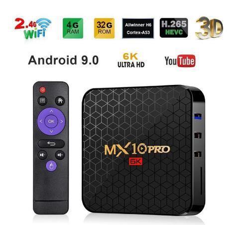 Premium New MX10 Pro6K Android TV Box,Allwinner H6 High End