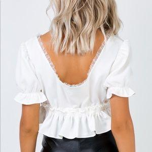 Princess Polly White Baby Doll Top (touched for the first time top)