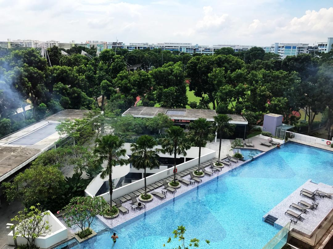 Rare High Floor Pool View 2BR near Khatib MRT for RENT