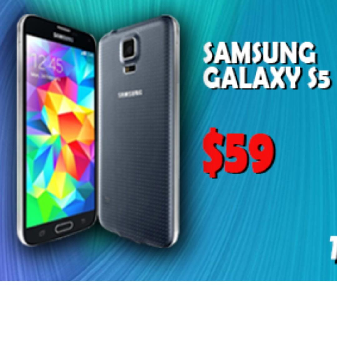 Samsung Galaxy S5 Refurbished Mobile Phone FREE USB CABLE