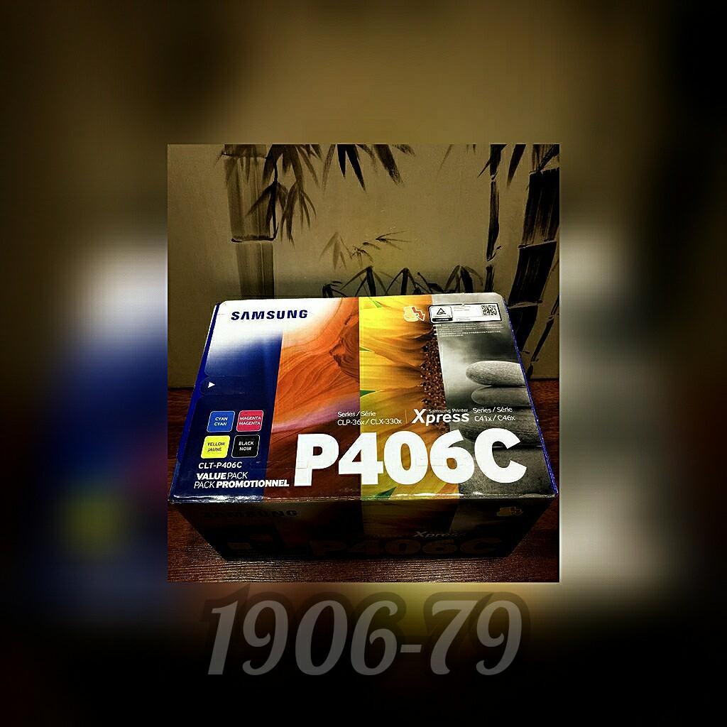 Samsung Laser Color Printer Cartridges P406C for Printer Series C41X/C46X & CLP36/CLX-330X