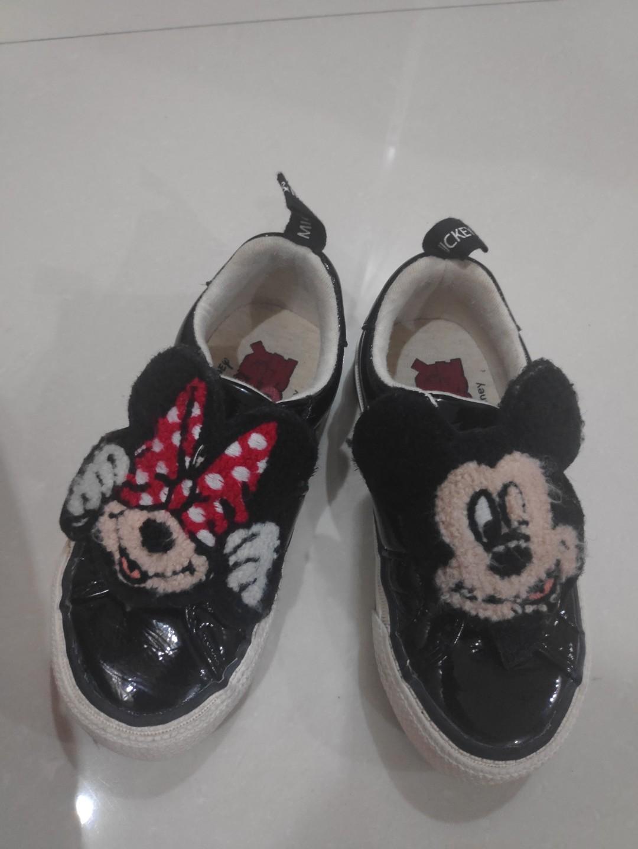 Sepatu Mickey Mouse Zara Babies Kids Girls Apparel 1 To 3