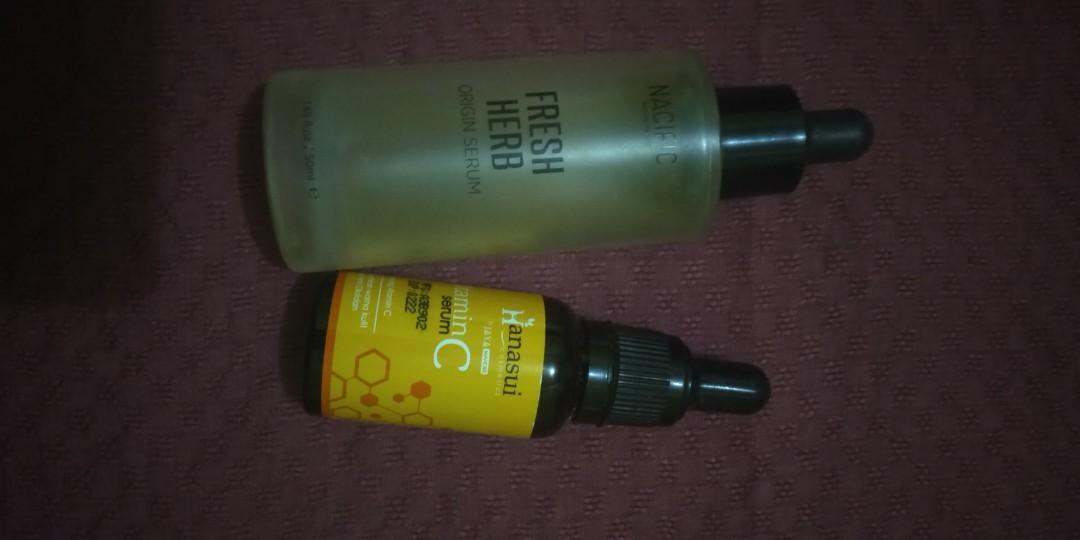 Serum nacific fresh herb dan hanasui vit c