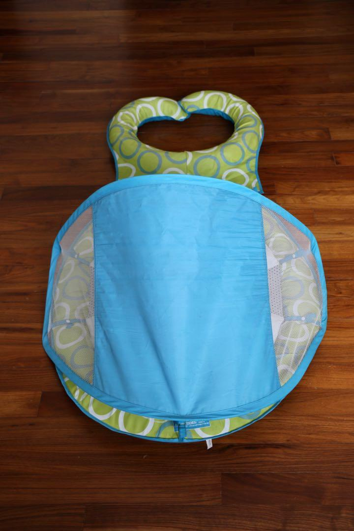 SWIMWAYS Green/Blue Mommy and Me Baby Spring Float with Canopy - Stage 1
