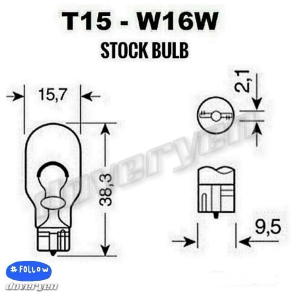 T15 W16W WY16W 955 921 YELLOW 3 5k CANBUS LED 3030 CHIPS 950
