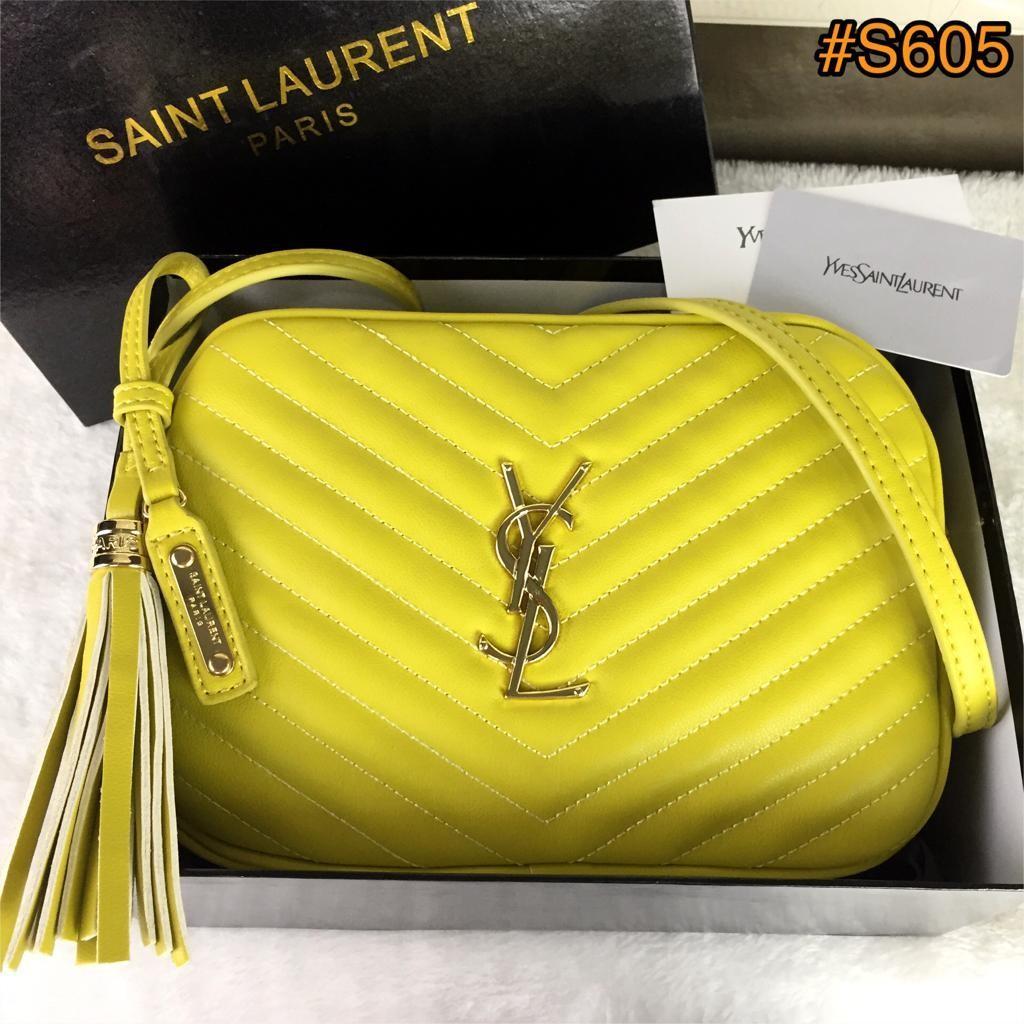 YvesSaintLaurent Lou Camera Crossbody Bag Lambskin Leather (with adjustable strap) GHW