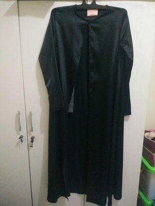 Long Outwear muslimah hitam #shopbackcarousell
