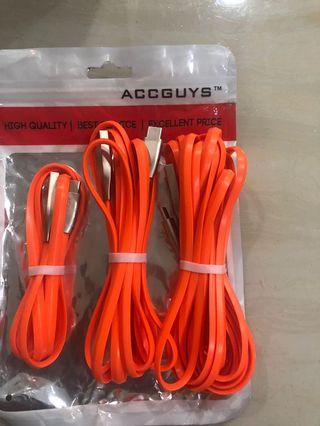 3 pieces pack - Type C to USB  cables