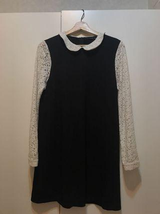 PAZZO 黑色連身蕾絲洋裝
