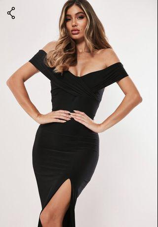 BNWT - Missguided Black Gown