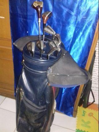 Lynx leather Golf bag & golf stick