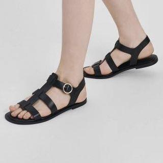 Charles & Keith Black Strappy Sandals