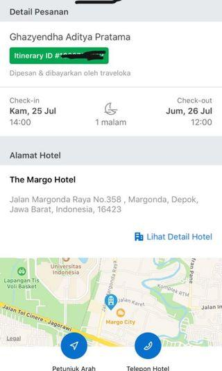 The Margo Hotel Tanggal 25-26 Juli