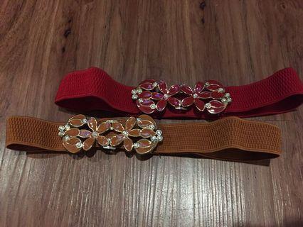 New! Sisa butik! Flower diamond belt