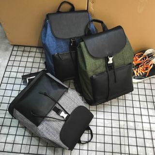 Kempinski Premium Leather Drawstring Backpack Bag