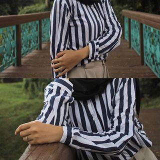 ICHI stripe Shirt
