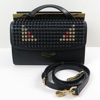 Fendi Demi Jour Monster Shoulder Black Bag 8BT245