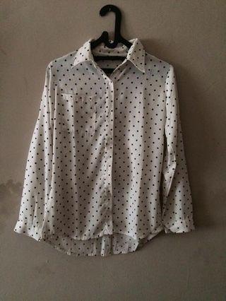 REPRICE Dotty white shirt