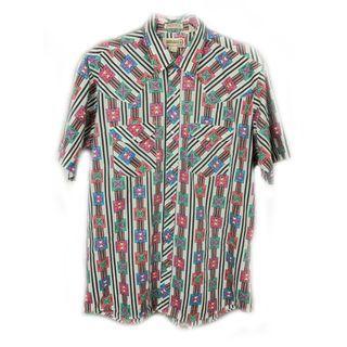 ♨️好看少見的圖騰,此花襯衫必須買!!♨️ 復古 二手 古著 古著襯衫
