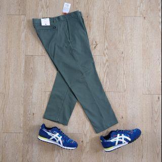 Obey straggler flooded pant 全新 滑板褲 工作褲 直筒褲 九分褲 中腰 灰綠色 33腰