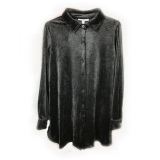 ♨️黑色絨布材質的襯衫,特殊少見系列♨️ 古著 復古 二手