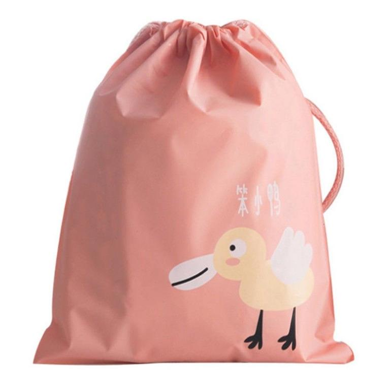 1x New Reusable Baby Drawstring Wet Bag - Pink 21x24cm