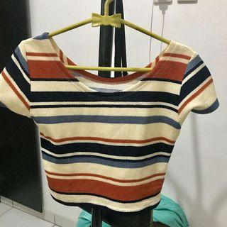 Crop Top Striped