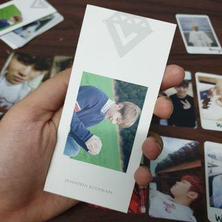 Seventeen Woozi Love & Letter Official Bookmark Japan Version