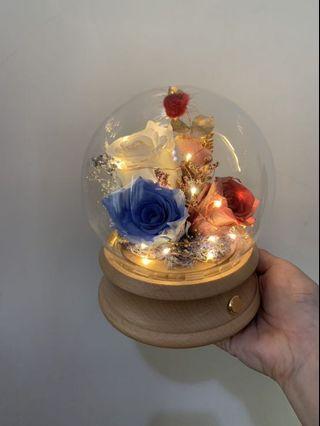 藍芽喇叭乾燥花燈罩