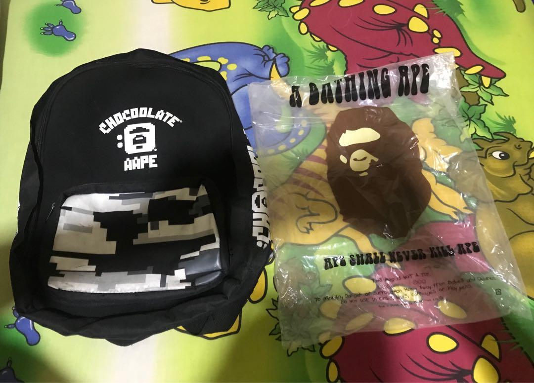 Aape X Chocolate Backpack / Tas punggung