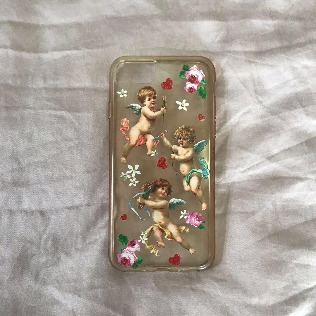 authentic skinnydip clear bronze angel iphone 7 silicon case