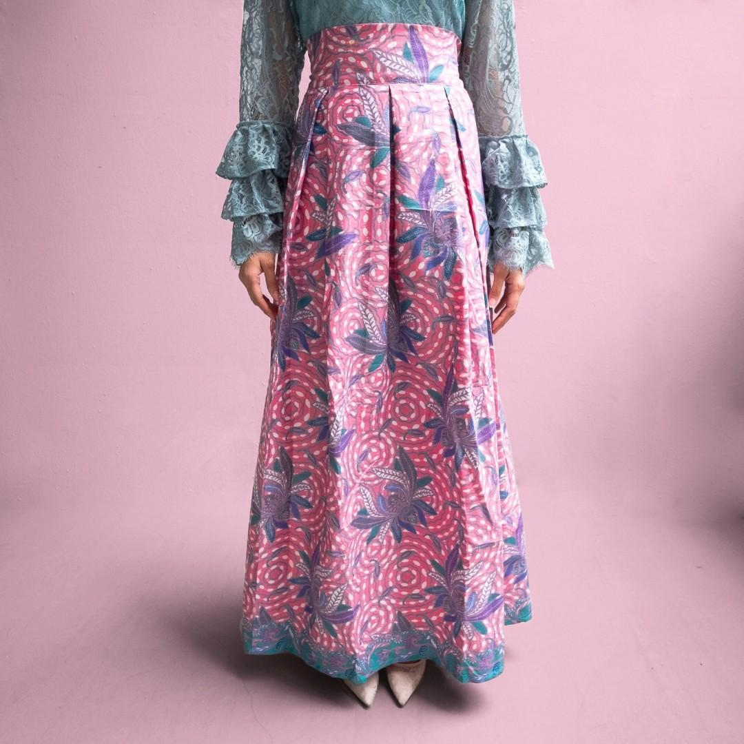 Batik high waisted skirt - Aurora